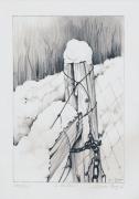 dessin paysages litho hiver dessin crayon : Hiver