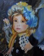 tableau personnages enfant portrait filette renoir : La fillette de Renoir