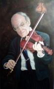 tableau personnages portrait violon musicien musique : Le Violonneux