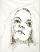 dessin personnages portrait femme visage encre : Quoi penser