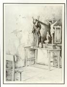dessin paysages litho interieur dessin crayon : Chapelle Méxicaine