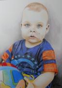 tableau personnages enfant portrait cause crayon couleur : Peut-on jouer maintenant