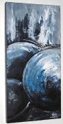 tableau marine bouees bleu mer : LES BOUEES