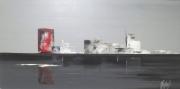 """tableau marine abstrait gris contemporain reflets : """"Vice et versa"""""""