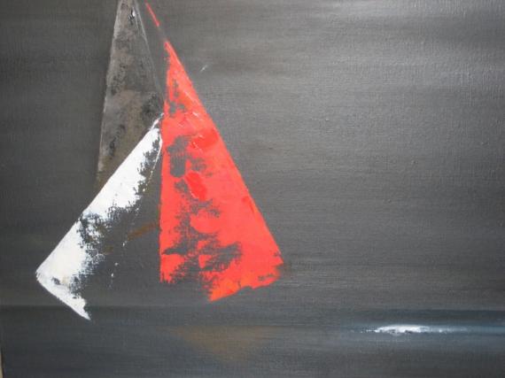 TABLEAU PEINTURE Marine Peinture a l'huile  - Couleur de voiles
