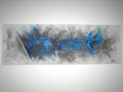 tableau abstrait bleu abstrait : Electrique
