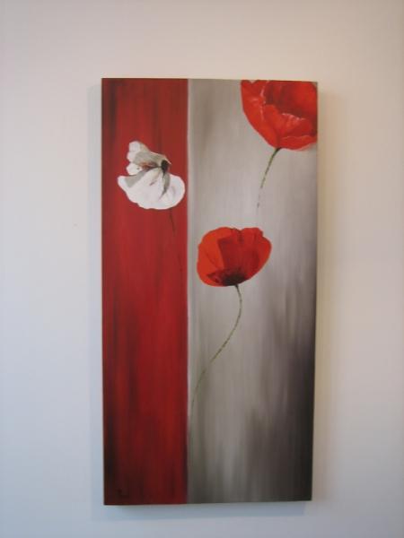 TABLEAU PEINTURE Fleurs Peinture a l'huile  - Duplicata