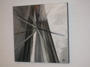 tableau architecture pont gris abstrait : Brooklyn
