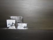 tableau marine horizon mer gris abstrait : reflets