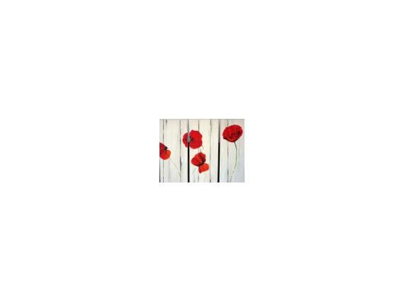 TABLEAU PEINTURE  - Bouquet de coqulicot