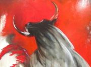 tableau taureau rouge : Torreador
