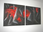 tableau abstrait : Boule de feu