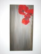 tableau fleurs coquelicot rouge : Rouge coquelicot
