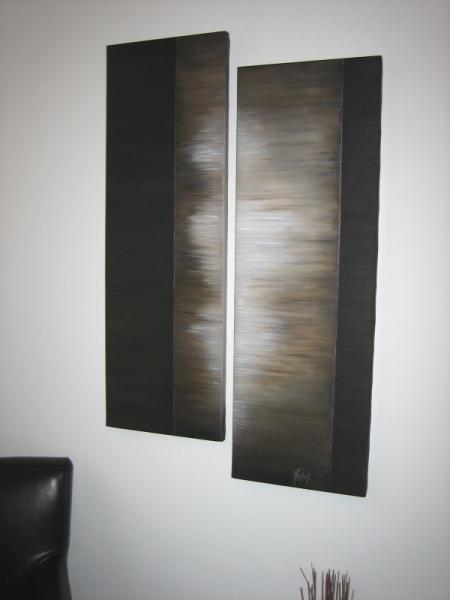 TABLEAU PEINTURE Abstrait Peinture a l'huile  - Silhouette