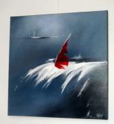 tableau marine bateau mer vague : LA GLISSE