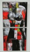 """tableau nus femme nu moderne : """"Couleur de femmes"""""""
