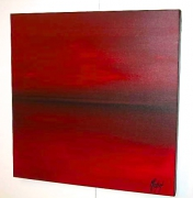 tableau marine horizon rouge : ROUGE HORIZON