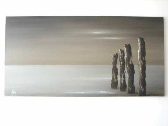 TABLEAU PEINTURE Marine Peinture a l'huile  - Vue mer