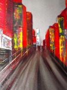 tableau architecture ville new york rouge architecture : STREET ART