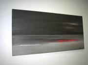 """tableau marine noir vague horizon rouge : """"Vague rouge"""""""
