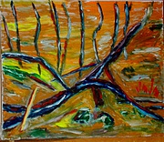 tableau paysages : Arbres morts