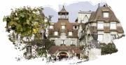 digital art villes deauville ville normandy barriere plage : Deauville