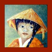 tableau personnages asie portrait d enfa visages du monde : Yoko