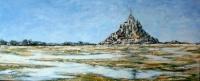 Le mont St Michel a marée basse