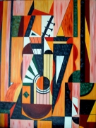 tableau abstrait musique guitare abstrait : Arpeges
