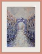 tableau paysages venise gondoles italie : Venise