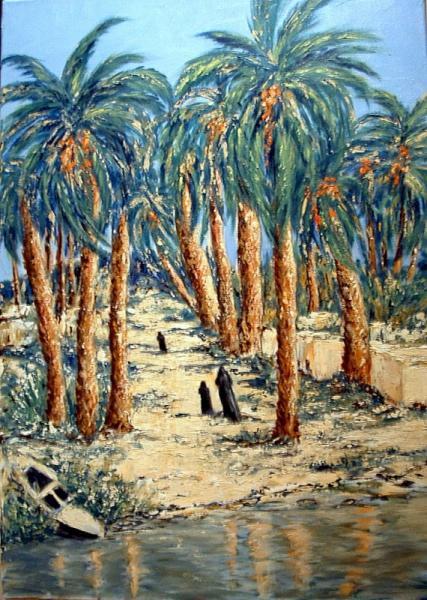 TABLEAU PEINTURE egypte Nil voyage  - Au fil du Nil (2)
