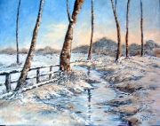 tableau : Riviere en hiver