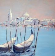 tableau paysages venise gondoles italie : Venise eternelle