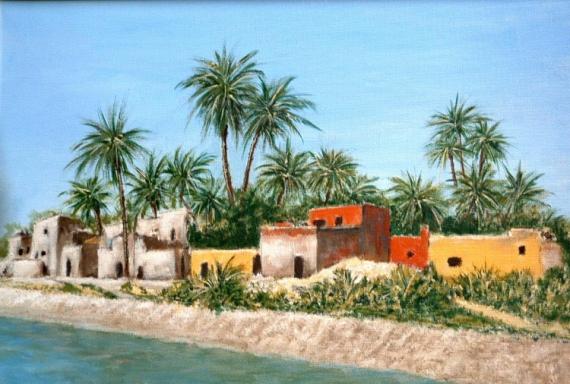 TABLEAU PEINTURE Egypye Nil Voyage Paysages  - Au fil du Nil