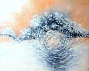 tableau paysages hiver tempete de neige peinture moderne sous bois : Dans la tourmente de l'hiver