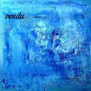 tableau abstrait abstrait bleu marbre matiere : BLEU