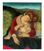 tableau personnages marie jesus le caravage : Le repos d'après Le Caravage