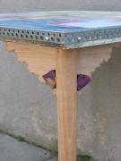 artisanat dart abstrait taquets violet stabilite bureau : Détail 2 Bureau Cloé