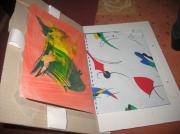 deco design abstrait rangement dessins peinture carton : Cadre en carton