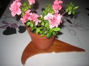 artisanat dart fleurs desssous pot de fleur bois bruge pascal : Dessous de pot de fleur Modéle 3