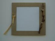 deco design personnages petit cadre carton photos : Petit cadre en carton