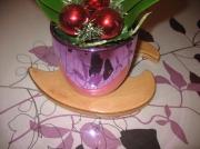 artisanat dart abstrait dessous pot de fleur bruge nord : Dessous de pot de fleur N°1