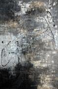 tableau abstrait abstrait gris noir argent : GRIS