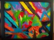 ceramique verre abstrait peinture verre couleur abstrait : Peinture sur verre 2