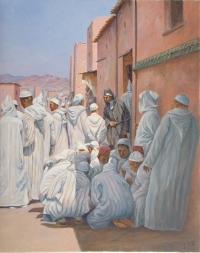La Sadaka après la visite de la mosquée