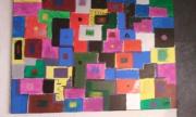 tableau abstrait peinture abstraite art contemporain : labyrinthe