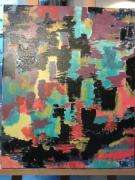 tableau abstrait peinture abstraite art contemporain : cache-cache d'animaux
