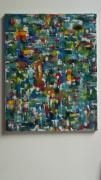 tableau abstrait art peinture abstrait couleurs : sculpture