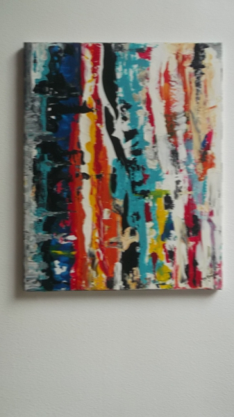 TABLEAU PEINTURE peinture art couleur abstrait Abstrait Acrylique  - grand retour de situation