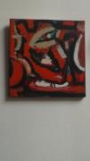 tableau abstrait art peinture couleurs abstrait : petite orange